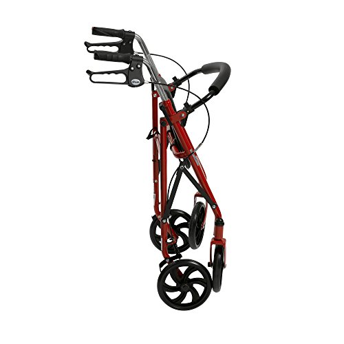 Drive Medical Four Rollator Removable Back Support,