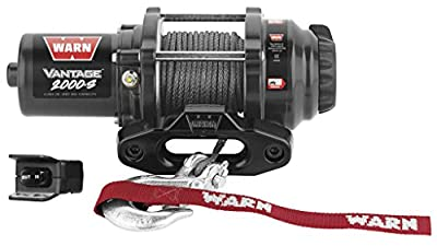 New Warn Vantage 2000 lb Winch With Synthetic Rope & Model Specific Mounting Hardware - 2007-2014 Honda TRX500 Rubicon ATV