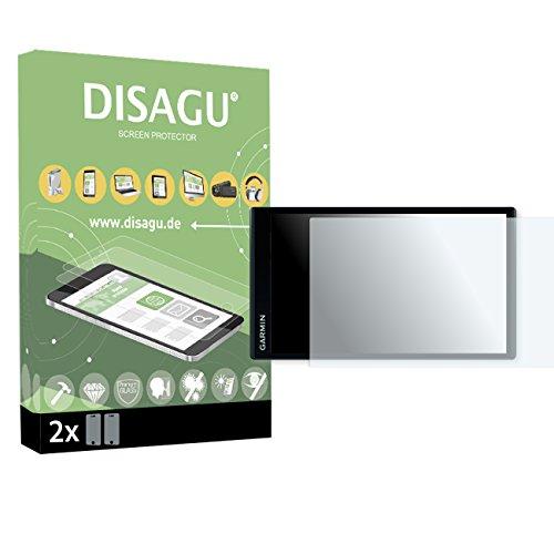 2x DISAGU flexible tempered glass for Garmin DriveSmart 61 LMT armor glass 9H hard glass screen protective film 3D compatible by DISAGU