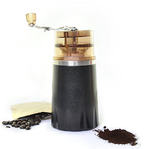 Manual Coffee Beans Grinder,Meetcute Portable All in one Coffee Maker Machine Ceramic Stainless ...