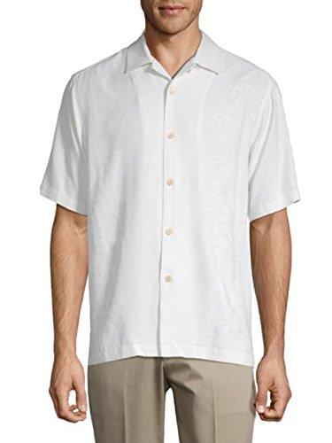 Tommy Bahama Hawaiian Wedding Shirt Silk Camp Shirt (Color Coconut, Size XXL) - Tommy Bahama Hawaiian Shirts