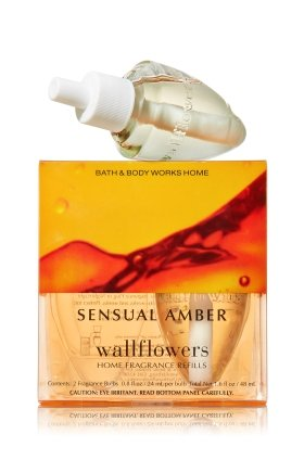 Bath & Body Works Wallflowers Refill Bulbs 2 Pack Sensual Amber