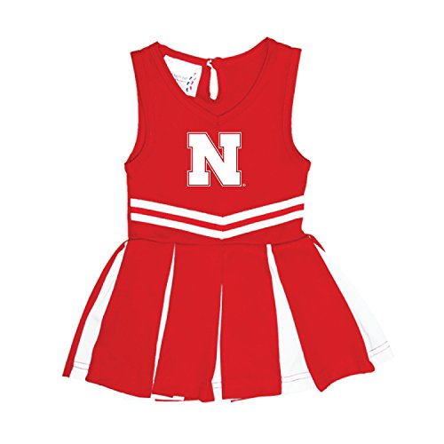Baby Infant Cheerleader Dress (Nebraska Cornhuskers NCAA Newborn Infant Baby Cheerleader Bodysuit Dress (0-3 Months))