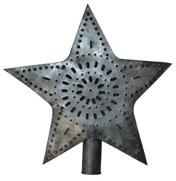BCD Punched Star Tree Topper 5.5""
