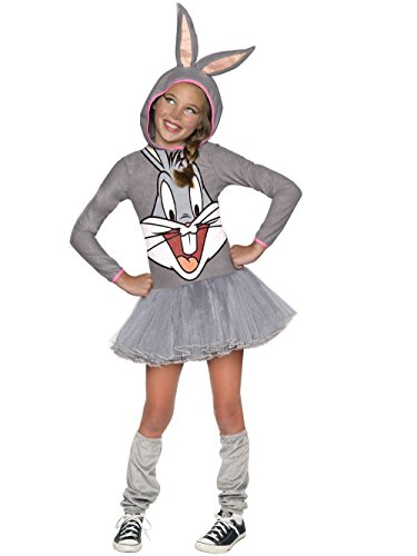 Looney Tunes Bugs Bunny Girls Hooded Costume, Child's -