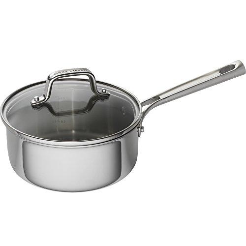Emeril Lagasse 62855 Tri-Ply Stainless Steel Saucepan, 2 quart, Silver