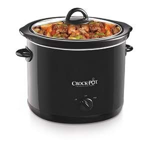 Crock-Pot SCR400-B 4-Quart Manual Slow Cooker, Black