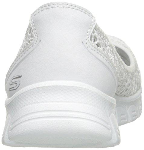 Pour 2 Flighty Ez Blanc Ballerines Skechers wht Femme Flex IBTXXw