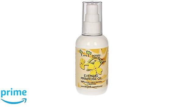 BIOPARK - Aceite de Onagra - Cuidado nutritivo para pieles secas y maduras - Reduce las impurezas - Regula la producción de sebo - Alivia el eccema y la ...