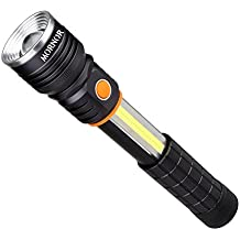 MORNOR LED Tactical Flashlight T6+COB LED Zoomable Outdoor Torch Working Lamp Camping Light with Strong Magnet