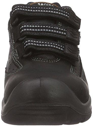 Sanita San-safe Yellow Velcro Shoe - Calzado de protección Unisex adulto Negro (Negro 2)