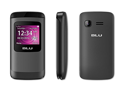 BLU Zoey Flex Factory Unlocked GSM Phone FM Radio Dual SIM MP3/4 Player (Black)