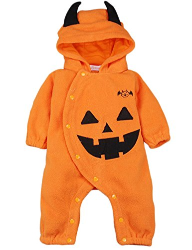 Mombebe Baby Pumpkin Halloween Hoodies Costume Romper (18-24 months, Pumpkin) (Family Halloween Costume Ideas With Infant)