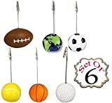 Pack of 6 Assorted Balls Memo Holder for Card, Note, Photo /Decorative Paper Organizer/ Picture Clip Decoration- Resin And Metal