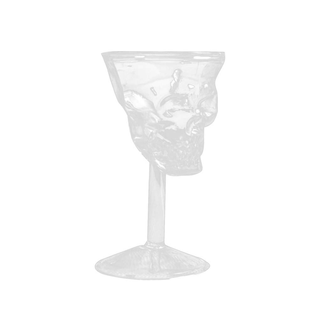 NewKelly Transparent Beer Wine Cup Bottle Glass Skull Cup Red Wine Sober
