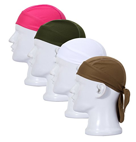 RRiody-Sweat-Wicking-Beanie-Cap-Adjustable-Motorcycle-Biker-Cycling-Cap-Hat-Skull-Cap-Chemo-Head-Wrap-Bandana-For-Men-Women-Helmet-Liner-Pack-of-4