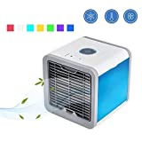 Air Cooler USB Evaporative Coolers with Waterbox, Portable LED Table Fan, 3 Fan