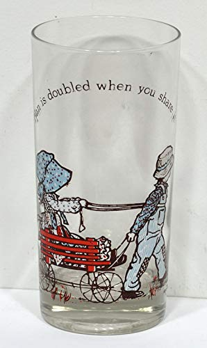(Fun is Doubled When You Share It Holly Hobbie Glass 1978)