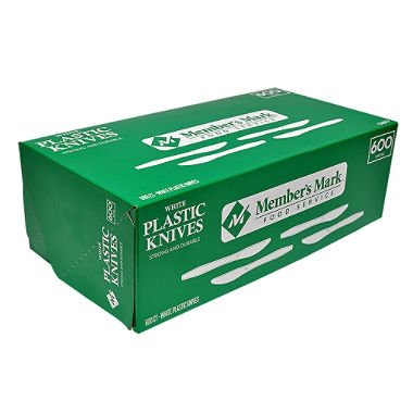 (Member's Mark Plastic Knives, Heavyweight, White (600ct.) (pack of 2))