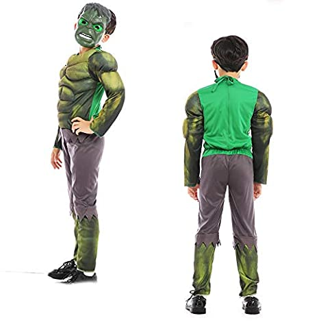 Amazon.com: NikoNi Disfraz de Hulk para niños, disfraz de ...