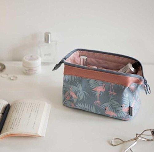 Bolsas de maquillaje para cosm/éticos de viaje dise/ño de flamencos LVEDU