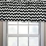 Chevron Window Valance, Color: Black, Valnce Width: 72'', Window Length: 12''