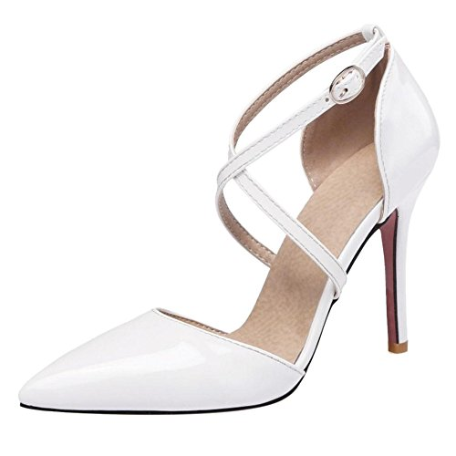 Femmes Sangle Sandales White Elegant Croisee JOJONUNU AE4HWSqdq