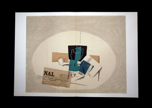 Georges Braque (1882-1963) Lithograph | Limited Edition | Double Lithograph | Newspaper Collage | 1963 | ART183;docs8482; Registered Documentation185; + ART183;sure8482;179;