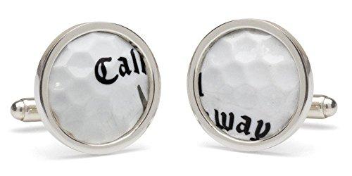 Tokens & Icons TPC Sawgrass Golf Ball Cuff Links (Hallmarked Silver Cufflinks)