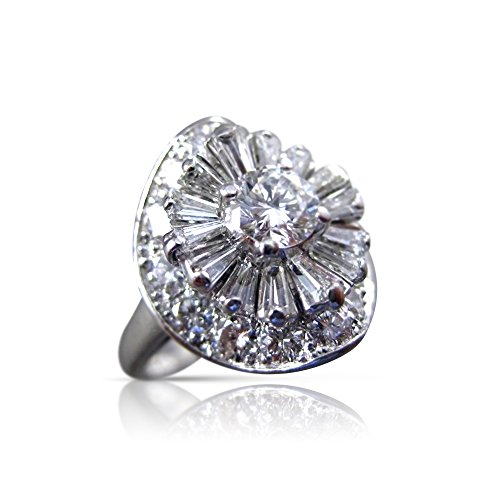 Milano Jewelers 1.94CT OLD MINE DIAMOND & AAA SAPPHIRE PLATINUM ENGAGEMENT RING #21970 -