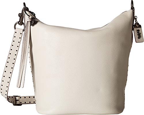 COACH Women's Border Rivets Duffel Bp/Chalk One Size (Coach Duffle Shoulder Bag In Glovetanned Leather)