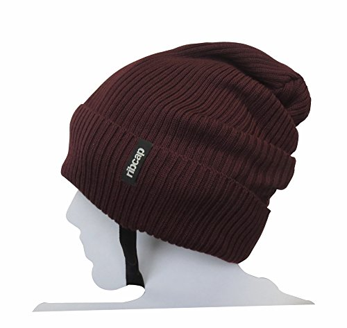 New Big Cap Hat (The All New Premium Original Ribcap - Lenny Anthracite Large Beanie Cap (Large, Bordeaux))