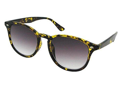 - Semi Round Vintage Full Reading Lens Sunglasses (Tortoise Frame Gray Lenses, 1.75)