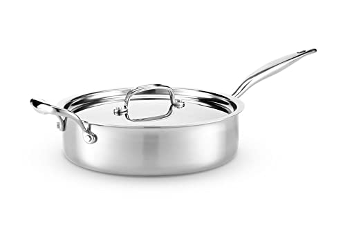 Hammer Stahl 4 Quart, Deep Saute Pan with Cover by Hammer Stahl: Amazon.es: Hogar