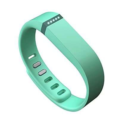 AFUNTA Set Large L Replacement Band with Clasps for Fitbit FLEX Only /No tracker/ Sport Wristband Bracelet (Teal)