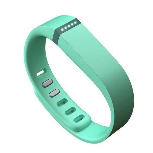 AFUNTA Set Large L Ersatz-Bands mit Haken für Fitbit Nur FLEX / Nein-Tracker / Wireless Activity Armband Sportarmband Fit Bit Flex-Armband Sport-Arm-Band-Armbinde (Teal)