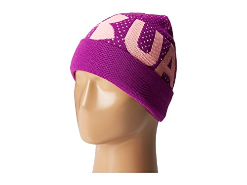 Under Armour Girl's Favorite Beanie (Little Kids/Big Kids) Purple Rave/Pop Pink/White Hat by Under Armour