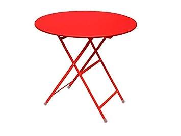 Arc en Ciel Table pliante ronde Emu cm. 80 Article 346 Couleur Rouge ...