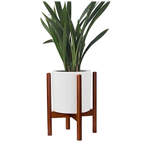 LouisaYork Balcone Vaso di Fiori in Legno Porta Vaso espositore in faggio, Indoor/Outdoor Flower Pot Supporto per casa Garden Decor (Non Incluso), Legno, Brown, 21x35cm