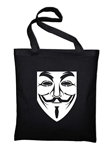 Pouch Mask And Black Bag Occupy Vendetta Cotton In black Jute Fabric Anonymous Guy Bag Fawkes Styletex23bagguyfawkes1 vq5c7