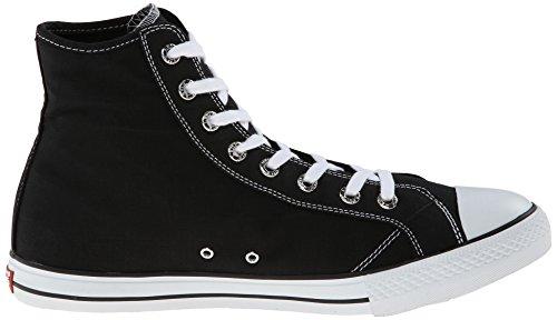 Levis Mens Hamilton Buck Fashion Sneaker Nero / Marrone