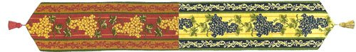 Grapes I European Table Runner by Charlotte Home Furnishings Inc.