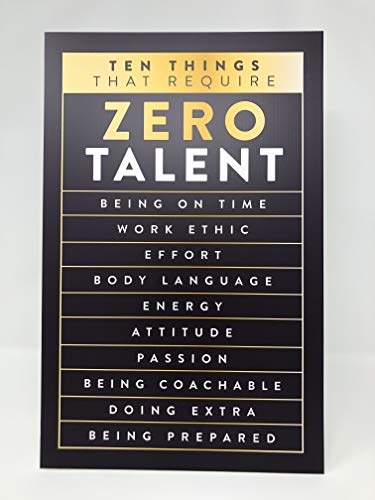 King Props LLC Business Wall Art, Office Motivational Sign with Easel Backer Stand, Inspirational Wall Art Decor 11''x17'' Gold