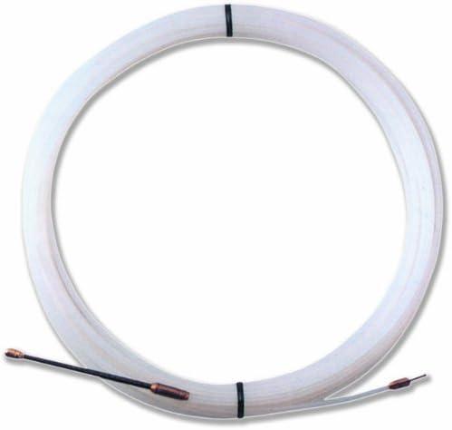 3 Mm De Di/ámetro 10 M White Color Blanco Electraline 61050 Sonda De Nylon Protector De Cables