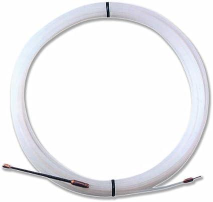 Electraline 21382015I Nylon-Einziehband Durchmesser 3 mm Wei/ß, 10 M