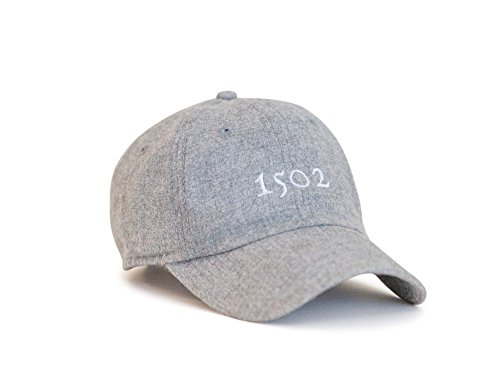 Grey Golf Hat, Mens Flannel Hat, 1502 Design, Adjustable Hat & Leather ()