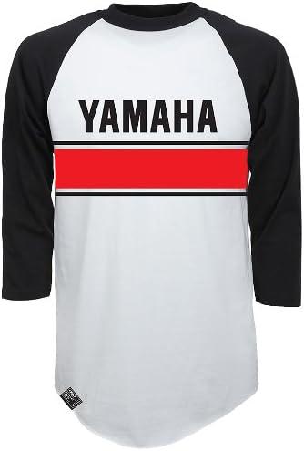 Factory Effex 17-87226 YAMAHA Raglan Baseball Shirt Heather Gray//Black, X-Large