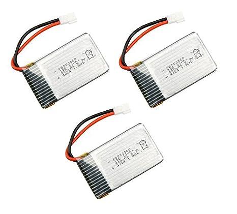 Outletdelocio Pack 3 baterias Lipo 3,7v 550Mah para Drone Syma X5C ...
