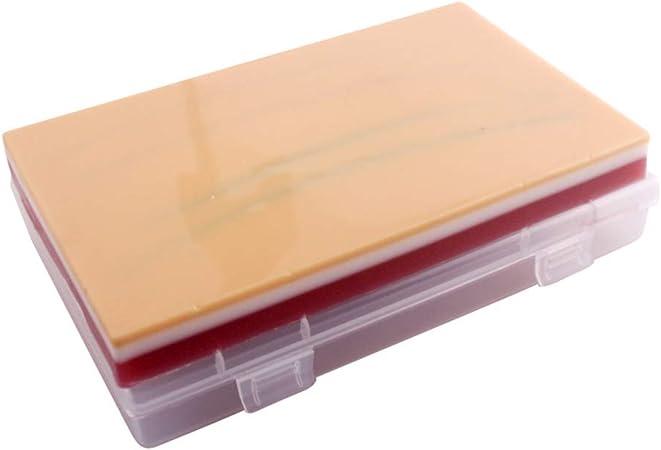 Iplusmile Almohadilla de sutura Entrenamiento de sutura para el Entrenamiento de la práctica Piel Grasa Muscular 3 Capas Reutilizables para el Estudiante Enfermera Médico: Amazon.es: Hogar