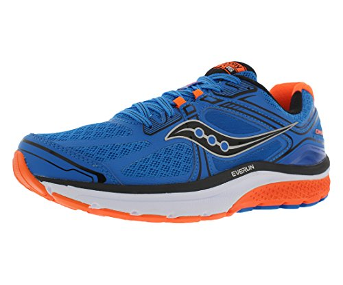 Saucony Men's Omni 15 Running Shoe, Blue/Orange/Blue, 11 M US